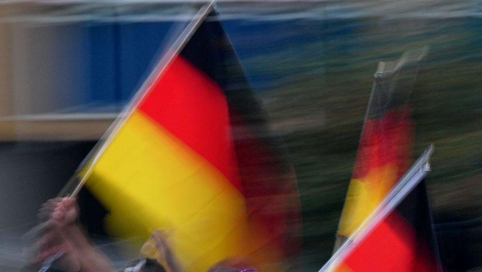 Rechtsgerichtete Demonstranten in Chemnitz (Archivbild)