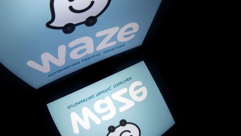 Logo der Navigations-App Waze: US-Polizisten sehen sie als Risiko
