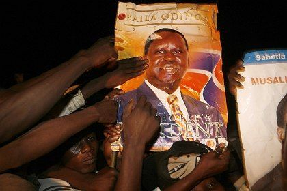 Supporters of opposition leader Raila Odinga celebrated the compromise agreement on Thursday.