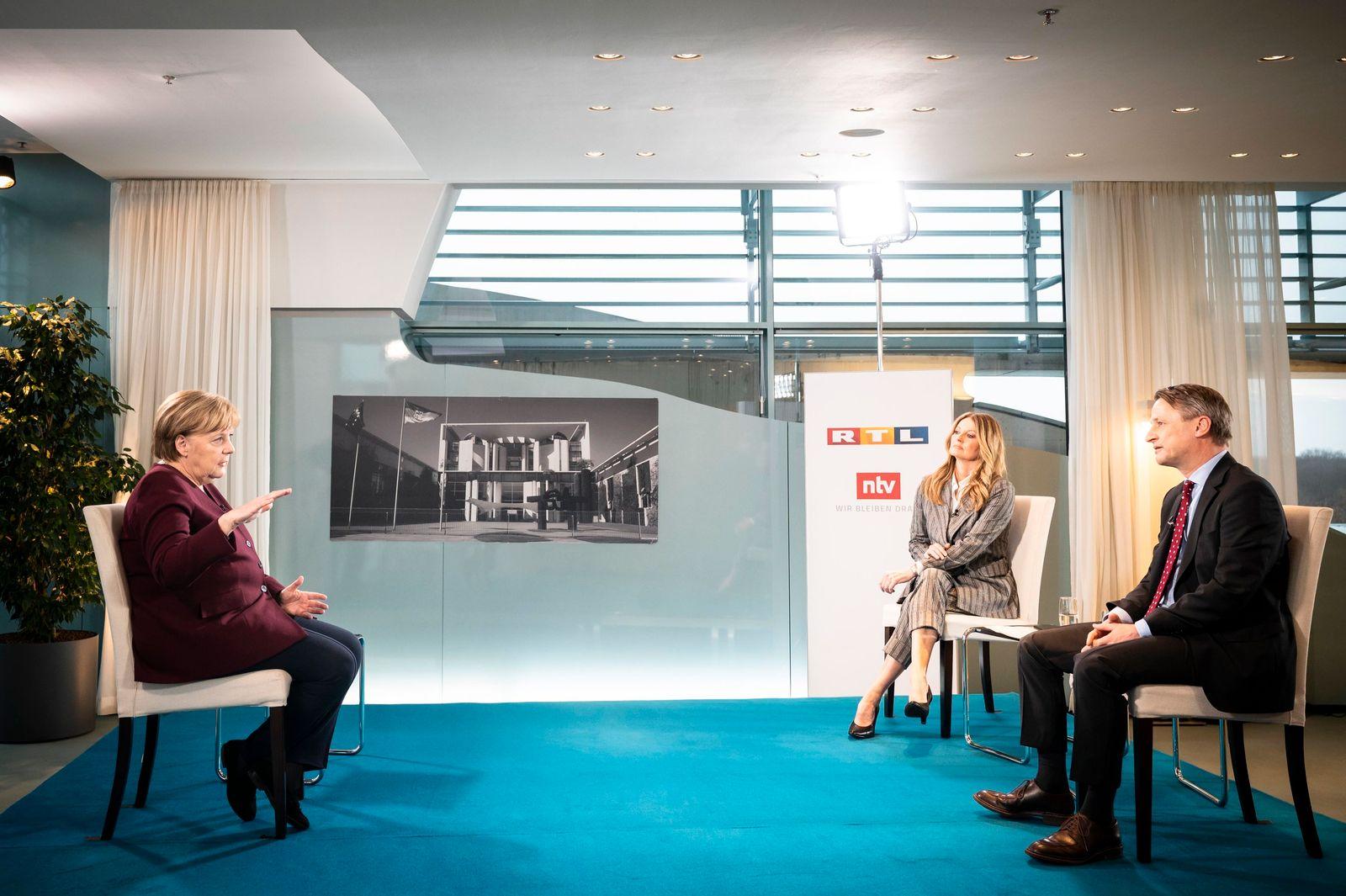 Merkel Interview bei ntv und RTL