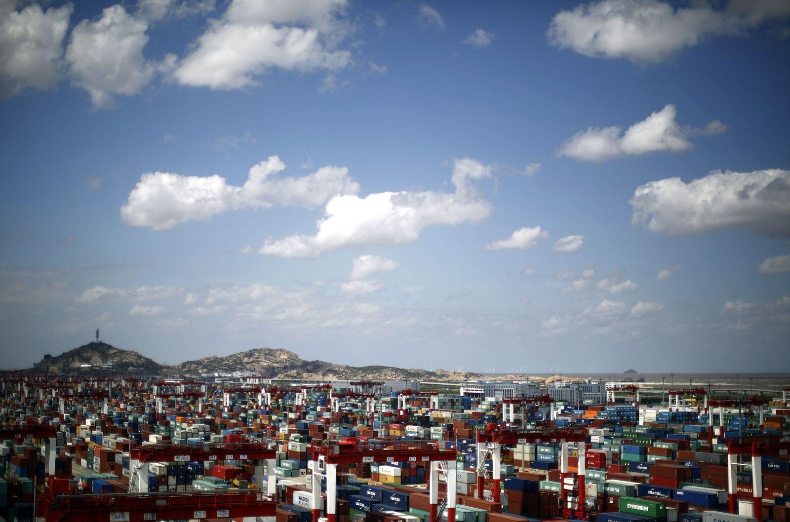 Shanghain Hafen Container Export