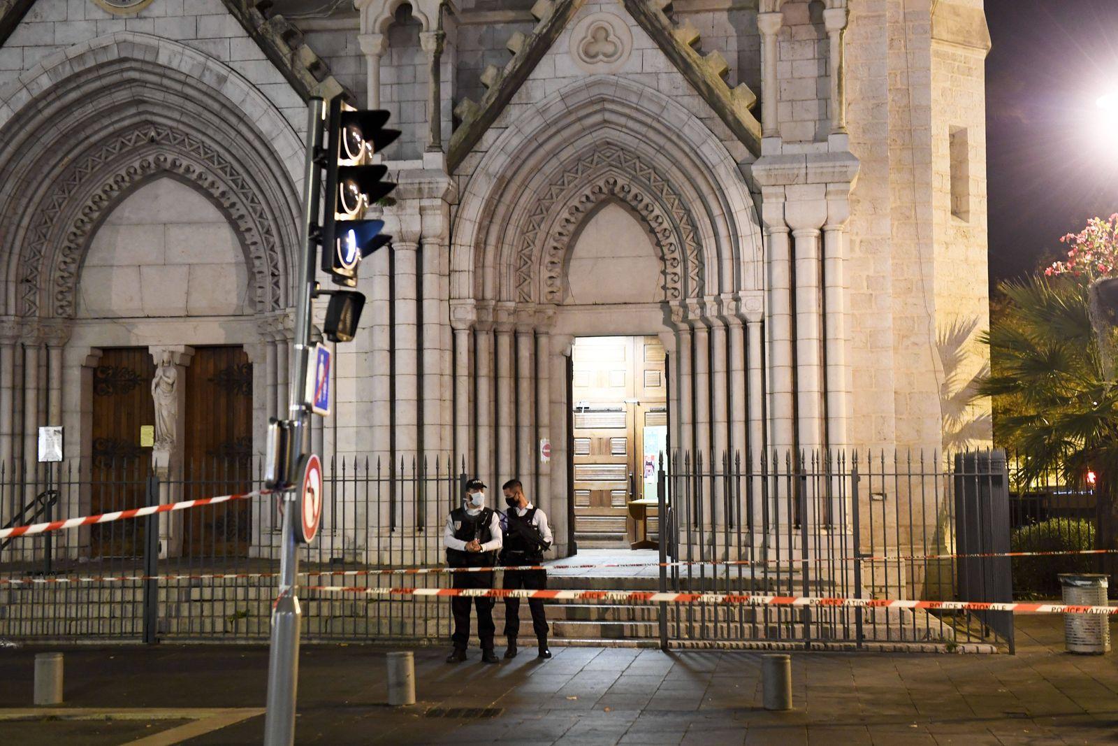 Basilique Notre Dame de NICE NEWS : Attentat de la Basilique Notre Dame de Nice - 29/10/2020 FEP/Panoramic PUBLICATIONx
