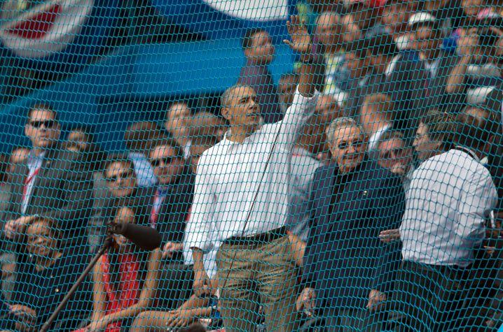 US-Präsident Barack Obama und Kubas Staatschef Raúl Castro in Havanna 2016: Hoffnung auf Joe Biden