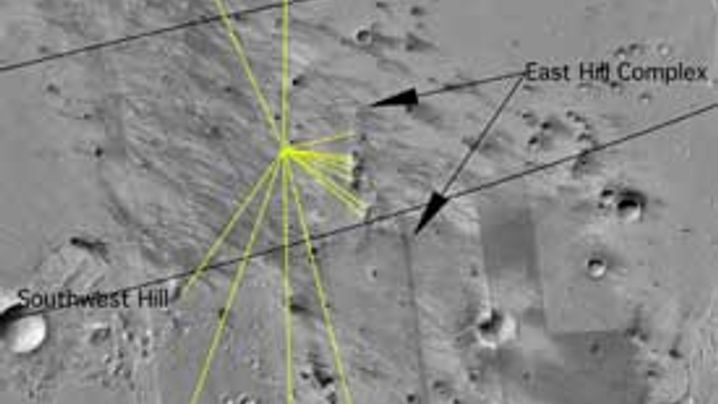 Mars-Rover: Spirits Weg zum Krater
