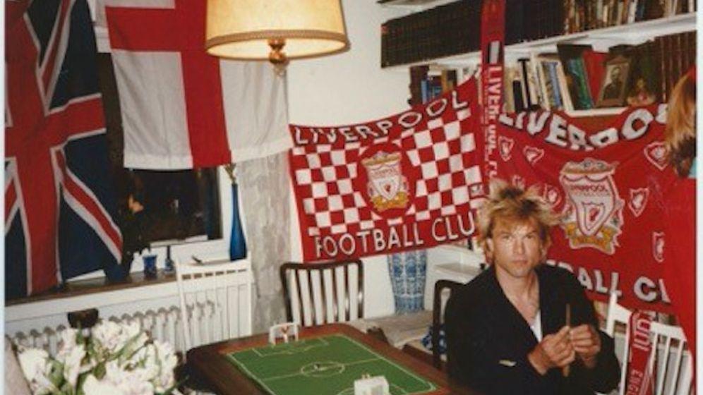 Campino 1992an Weihnachten in seinem früheren Jugendzimmer in Mettmann