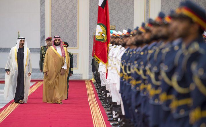 Wollen den Nahen Osten nach ihren Vorstellungen umbauen: MbZ und MbS