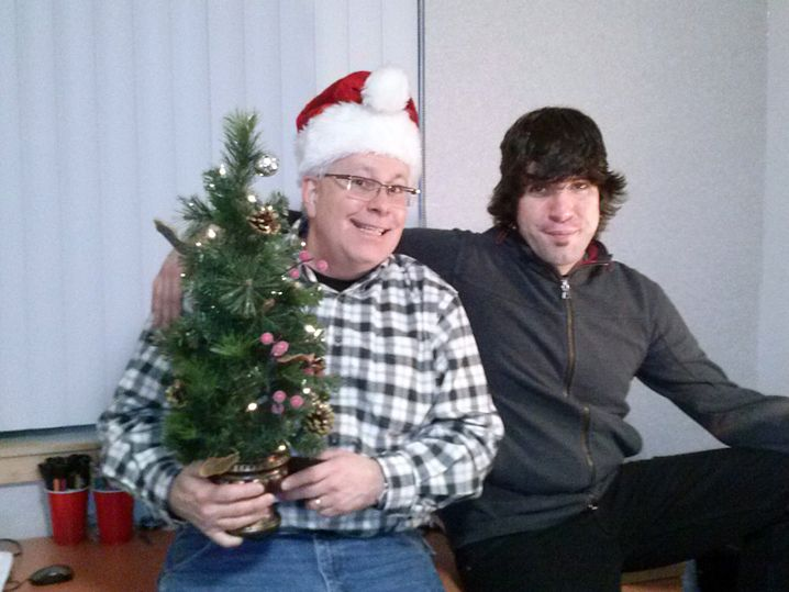 Vater Paul und Matthew DeHart