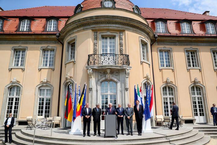 Steinmeier mit den Außenministern der EWG-Gründer in Berlin
