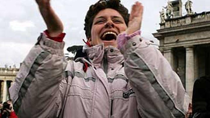 Rom: Beifall, Jubel, Freudentränen