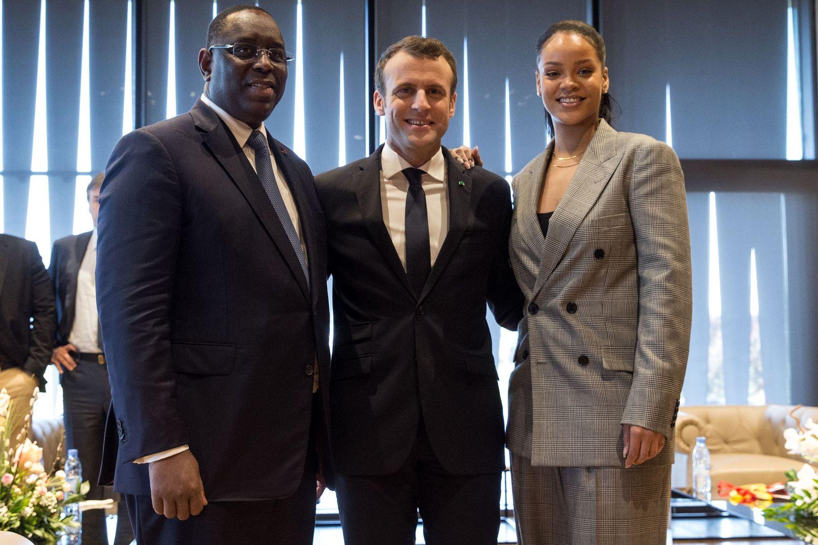 Macron / Rihanna / Macky Sall