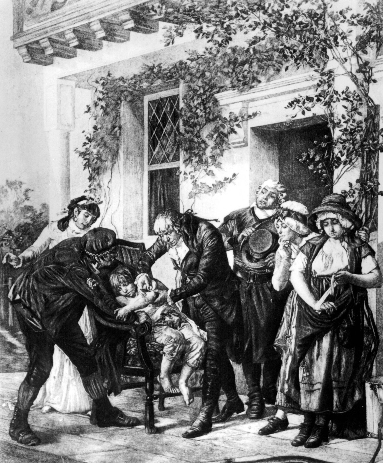 Dr Edward Jenner 1749 1823 giving the first vaccination UnitedArchives00421769 PUBLICATIONxINxGER