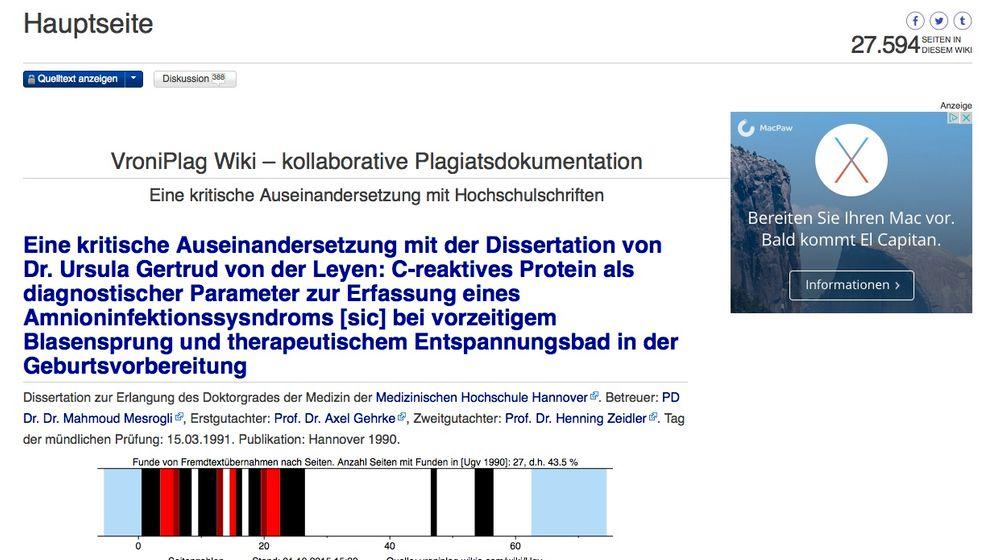 VroniPlag Wiki: Plagiatsjagd ohne Plan