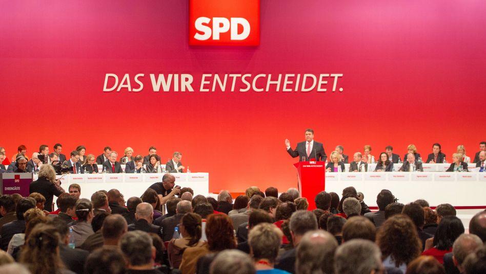 Gabriel auf dem Parteitag 2013: Man weidet sich an seinen Defiziten