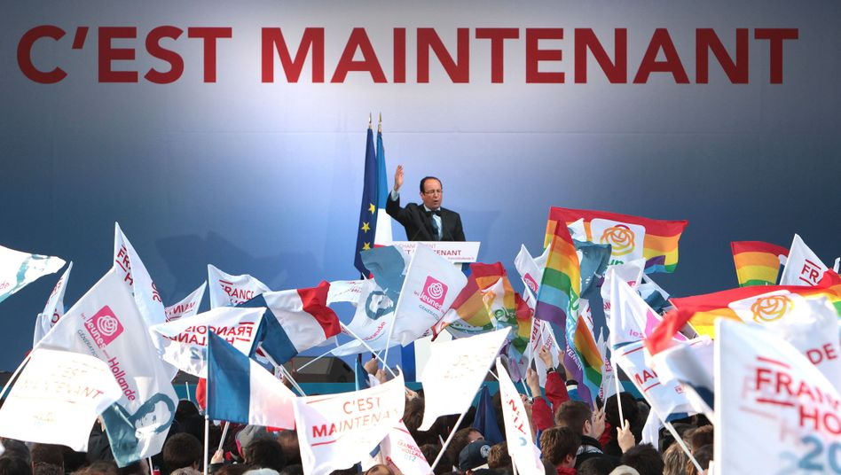 Kandidat Hollande: In den Umfragen mit Top-Werten
