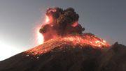 Große Rauchwolke nach Ausbruch des Popocatépetl