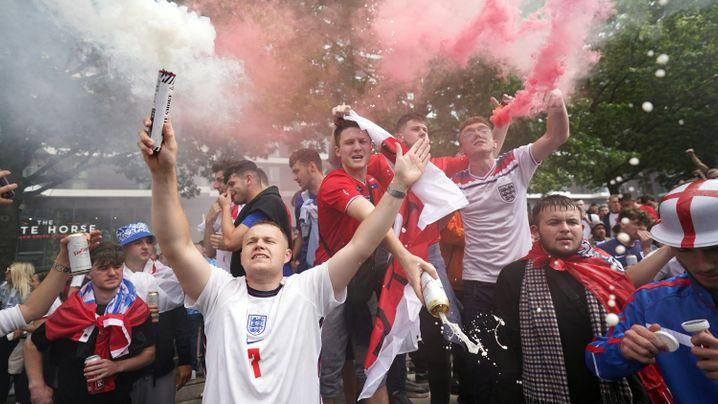 Die Bilder zum Halbfinale England gegen Dänemark