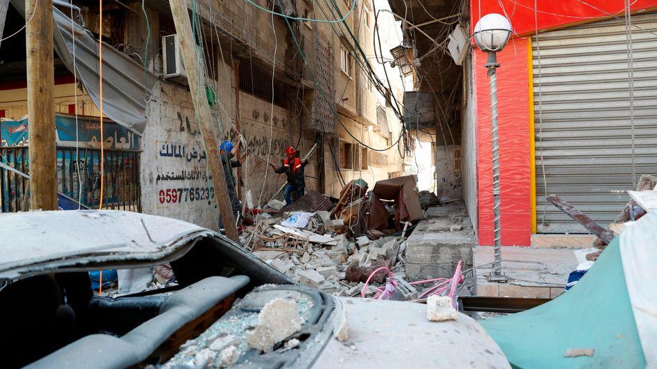 Zerstörung in Gaza-Stadt nach israelischen Luftangriffen
