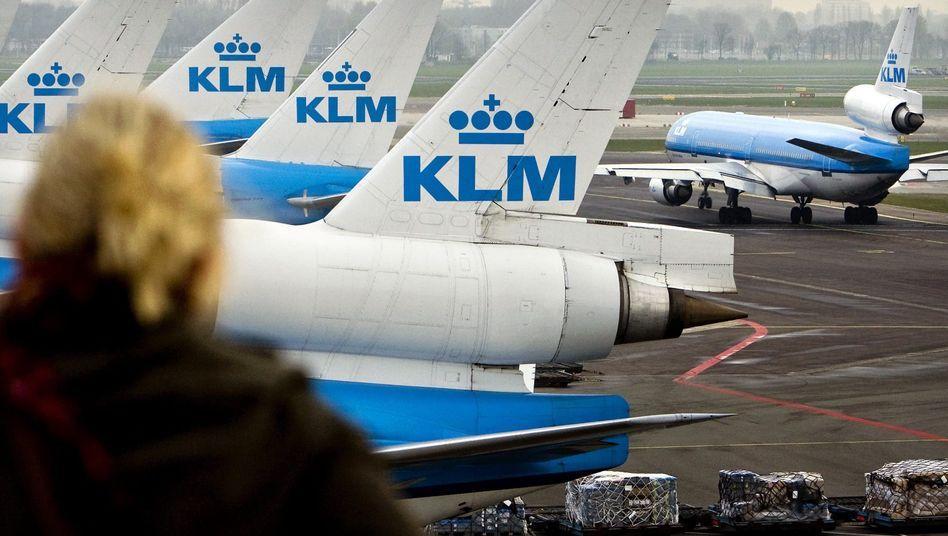 KLM-Flugzeuge am Airport in Amsterdam (Archivbild)
