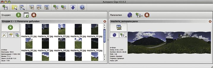 HDR-Stitching: So funktioniert die Panorama-Option in Autopano Giga