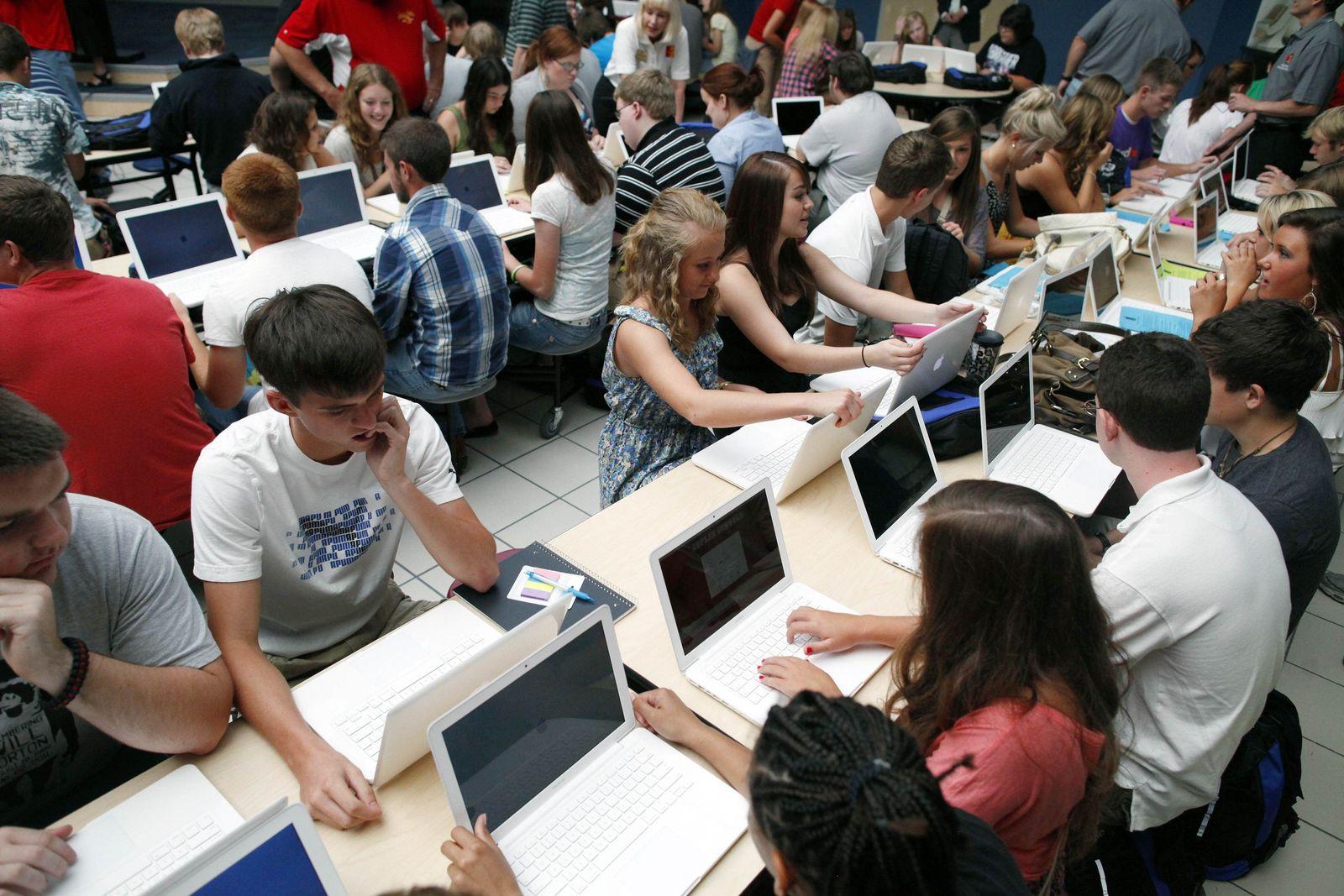 USA / Schüler / Laptop