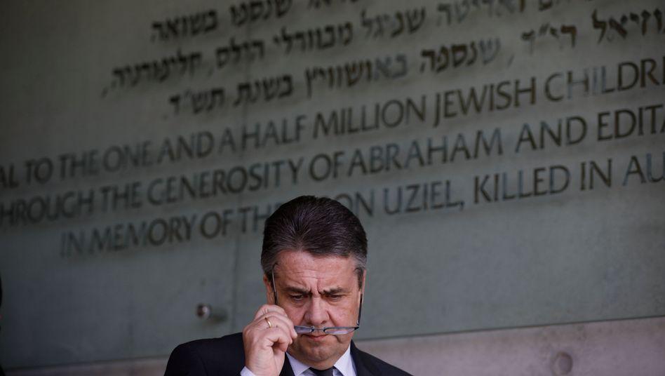 Außenminister Sigmar Gabriel in Jad Vaschem