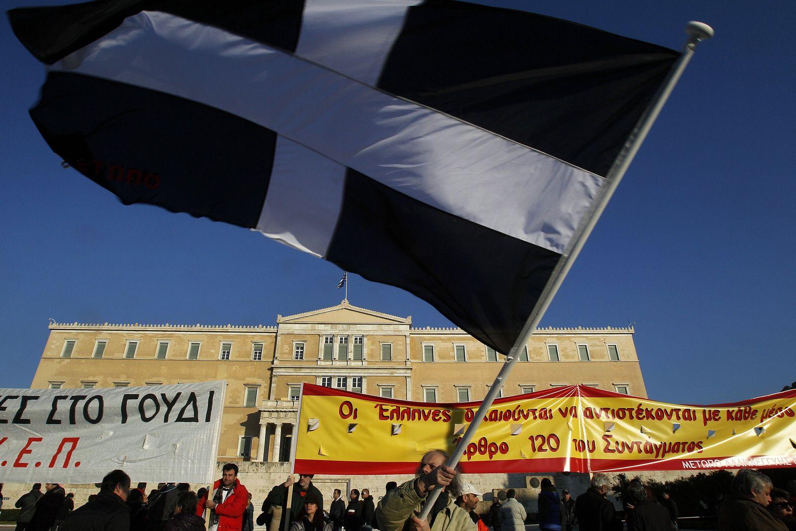Griechenland / Sparpaket / Protest