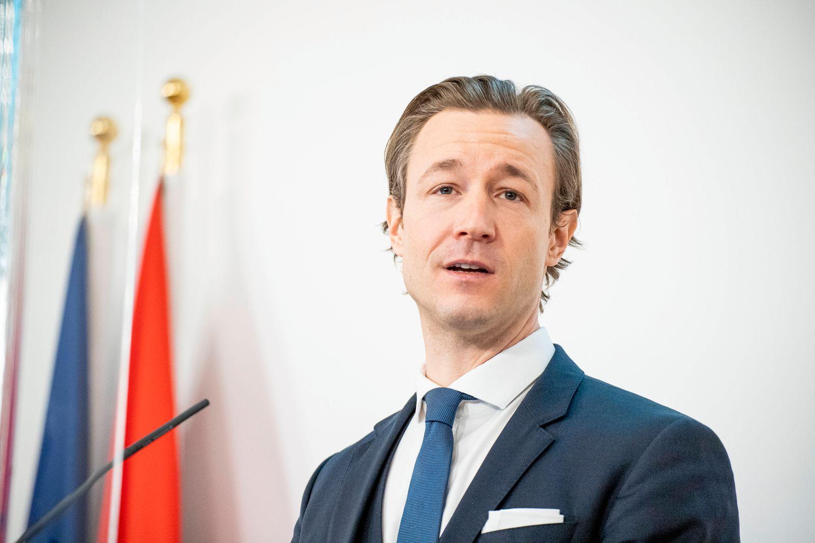 Pressekonferenz im Bundeskanzleramt Wien: Standort und Beschäftigung *** Press conference in the Federal Chancellery Vi