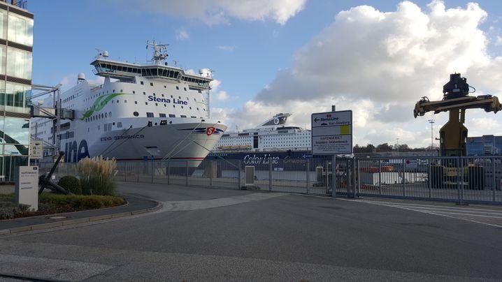 Einmal täglich bringt die Fähre von Stena Line 50 Flüchtlinge von Kiel nach Göteborg.