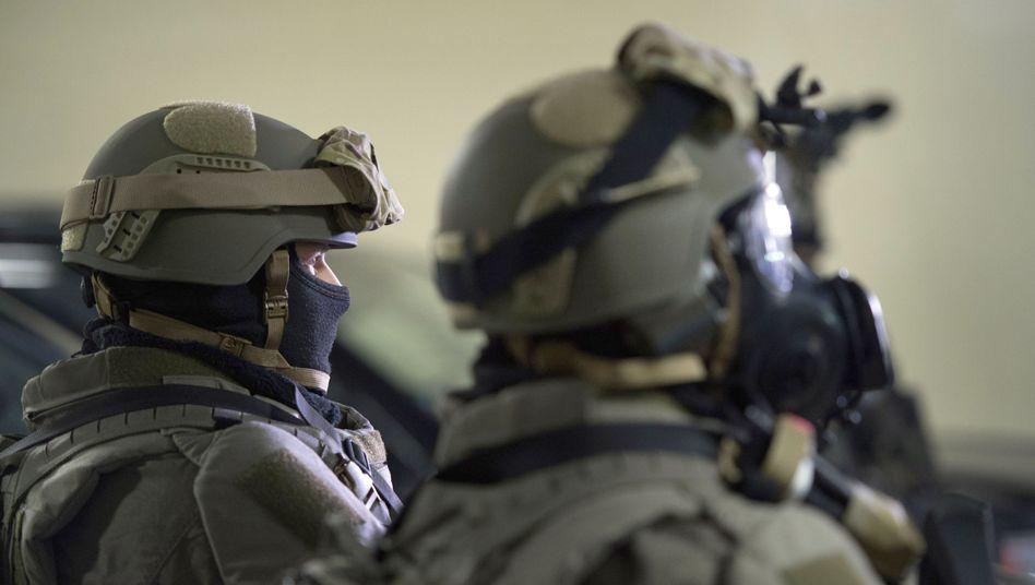 Spezialeinsatzkräfte (SEK) der sächsischen Polizei (Symbolbild)