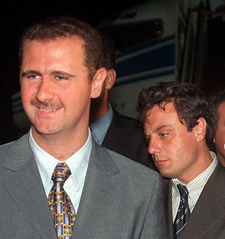 Assad mit seinem Ex-Vertrauten Manaf Tlass
