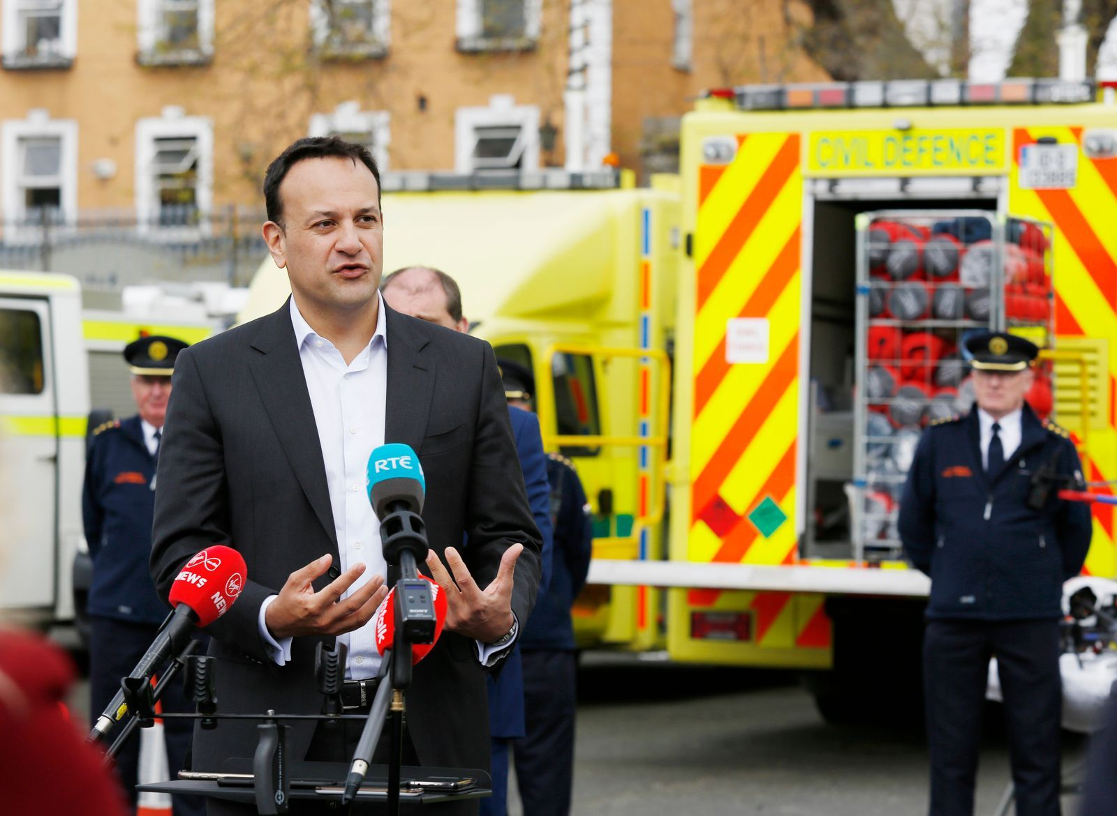 An Taoiseach Varadkar visits Civil Defence, Dublin, Ireland - 20 Apr 2020