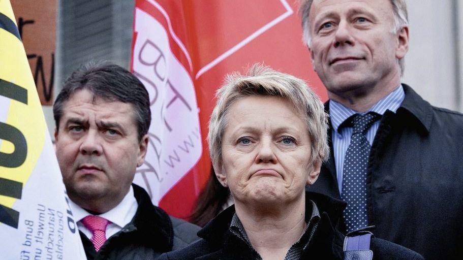 Rot-grüne Politiker Gabriel, Künast, Jürgen Trittin: Die Mehrheit ist dahin