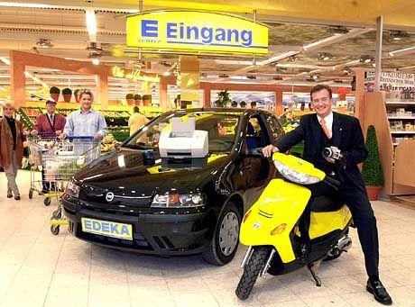 30 Prozent Verkaufsfläche zuviel: Fiat-Punto-Verkaufsaktion bei Edeka