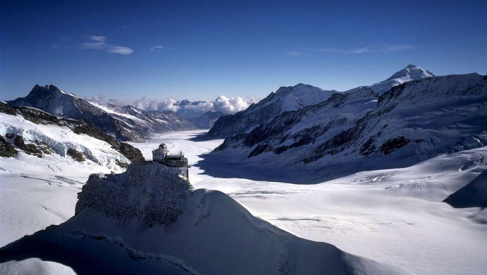Aletschgletscher in den Alpen: Schmelzen im Partikelregen