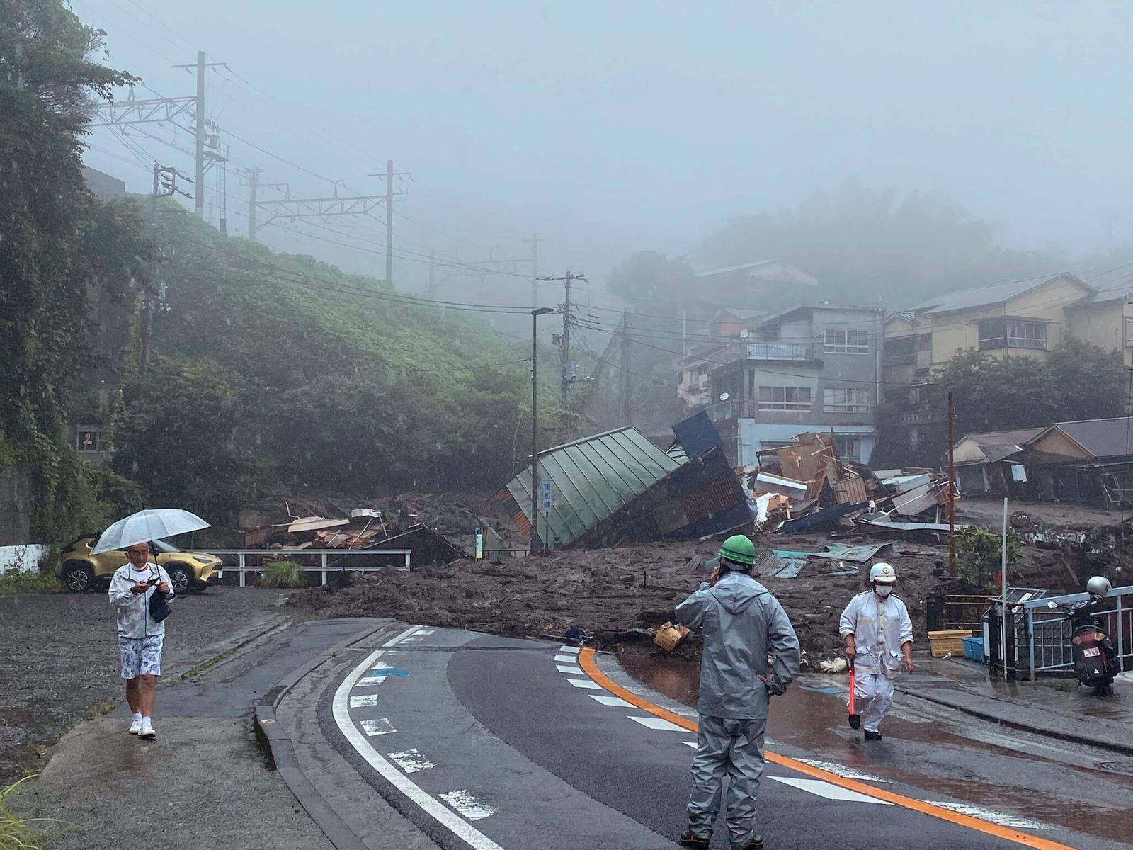 Erdrutsch in Japan
