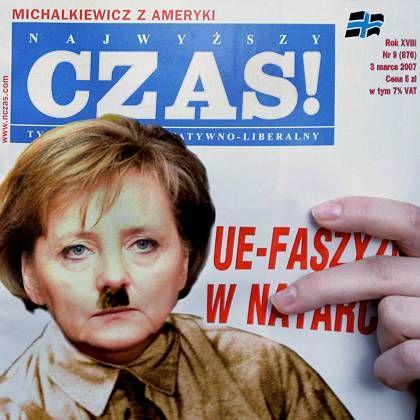 """Titelseite der polnischen Zeitschrift """"Czas"""": """"Der EU-Faschismus greift an"""""""