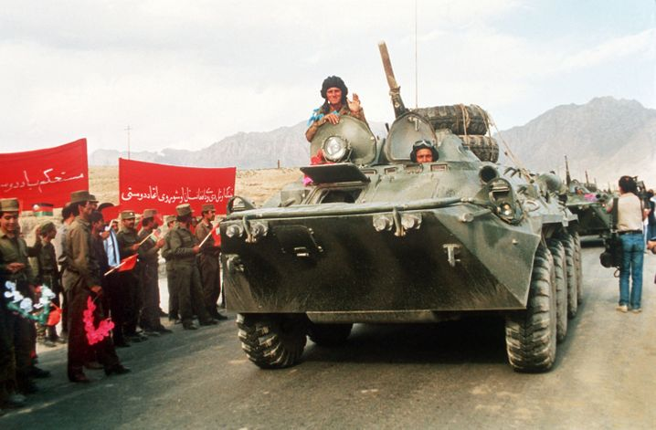 """Soviet troops pulling out of Afghanistan in 1989: """"Over the past 300 years, we have always had at least two rival superpowers in our neighborhood."""""""