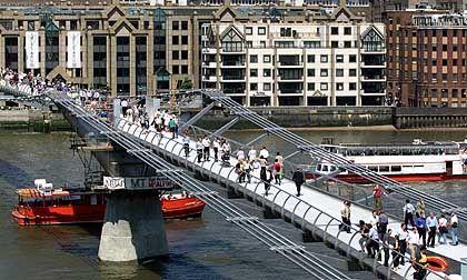 Millennium Bridge in London: Rätsel der Schwingungen scheint gelöst