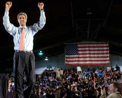 Wahlkämpfer Kerry: Vermutlich der Herausforderer George W. Bushs