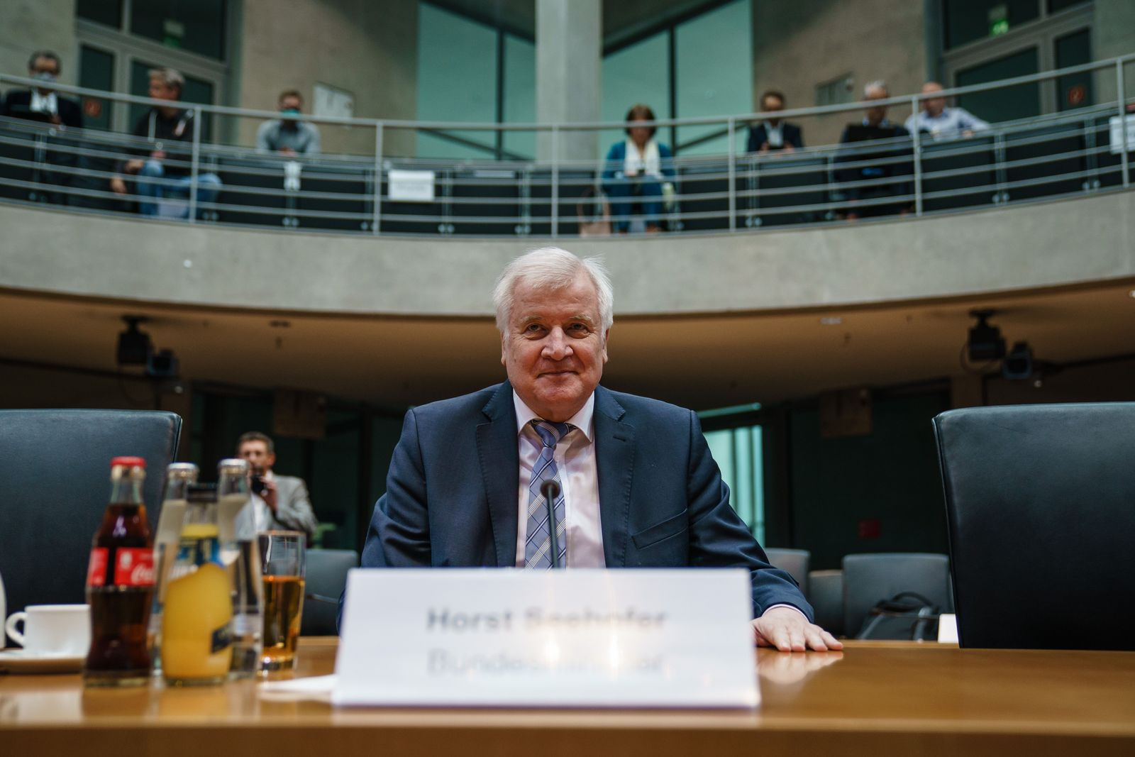 German Minister of Interior, Construction and Homeland Horst Seehofer testifies before car toll committee of inquiry, Berlin, Germany - 28 May 2020