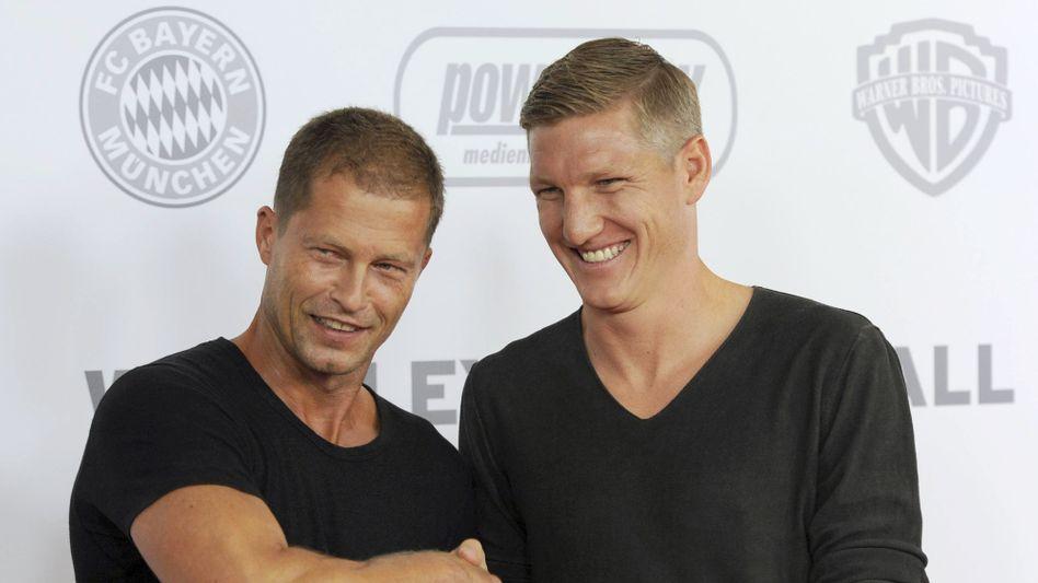 Til Schweiger (links) und Bastian Schweinsteiger: die Dreharbeiten haben bereits begonnen