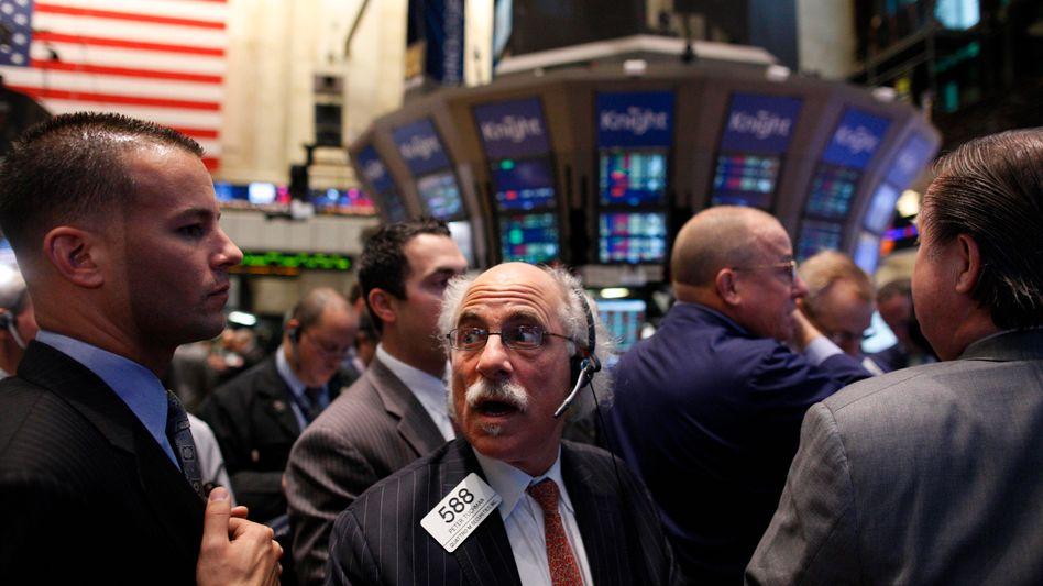 Börse in New York: Anleger in den USA sorgen sich um Europa