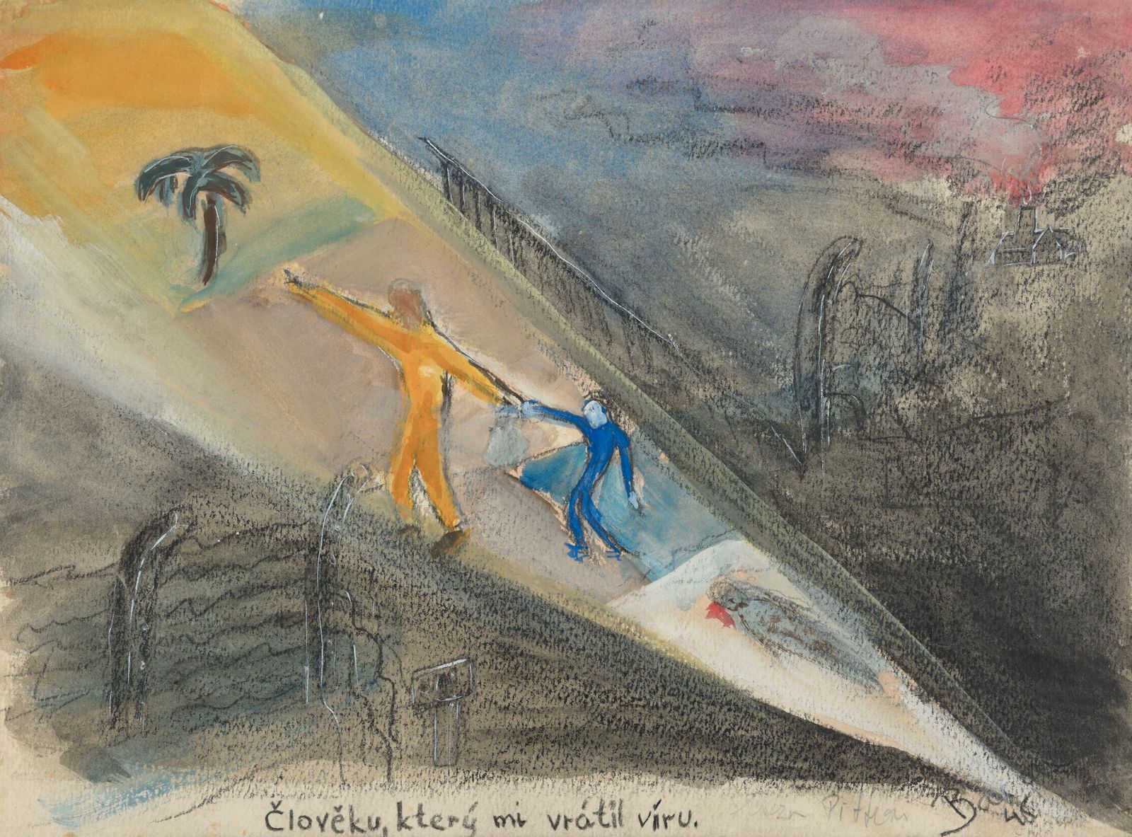 Yehuda Bacon - To the Man who Restored my Belief in Humanity, 1945