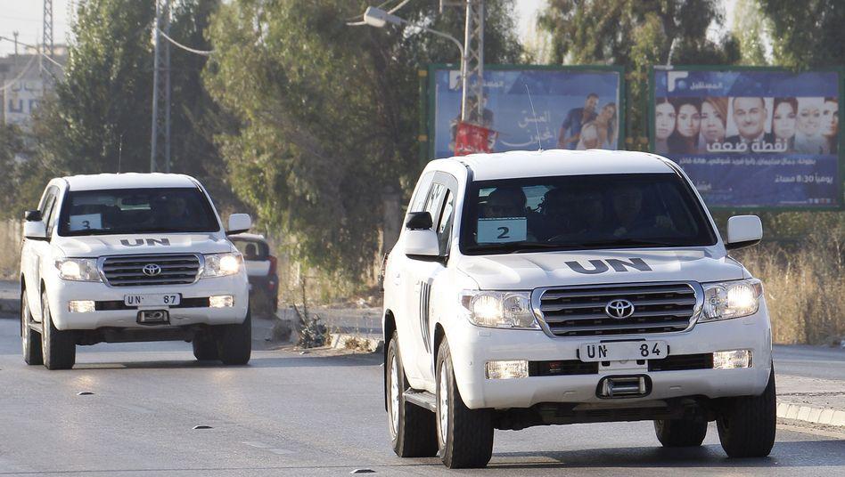 Untersuchung der Giftgasattacke: Uno-Inspektoren haben Syrien verlassen