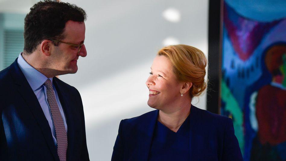 Jens Spahn, Franziska Giffey: Sie punkten, andere rutschen deutlich ab