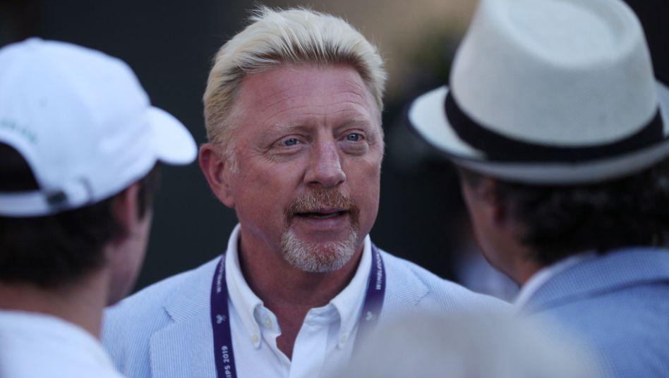 Tennislegende: Boris Becker in Wimbledon