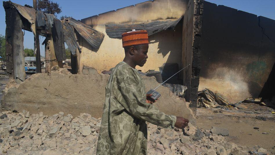 """Opfer eines Boko-Haram-Angriffs Mitte Februar: """"Nur die Asche ist übrig geblieben"""""""
