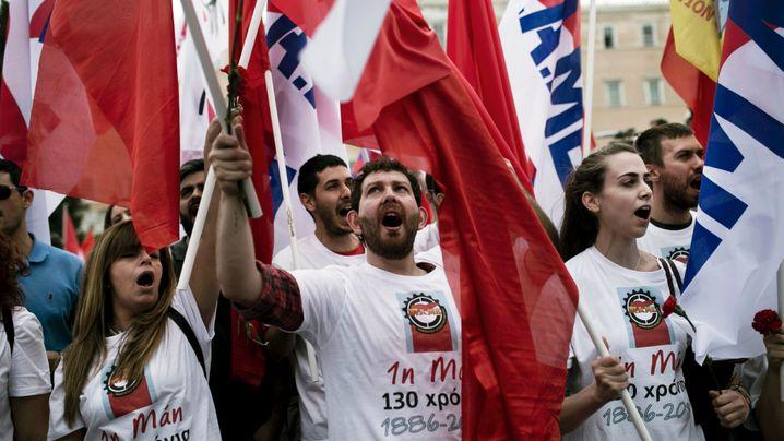 Griechenland: Tausende protestieren gegen neue Sparrunde