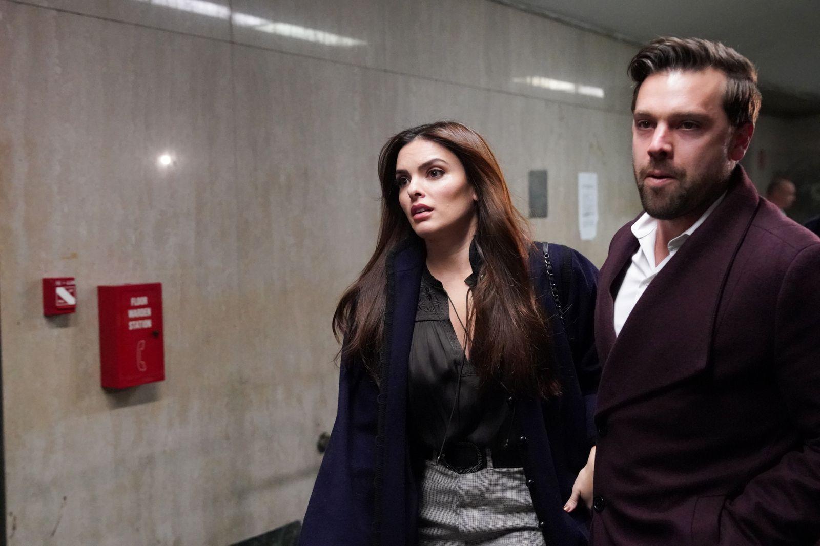 Actress Talita Maia leaves Criminal Court