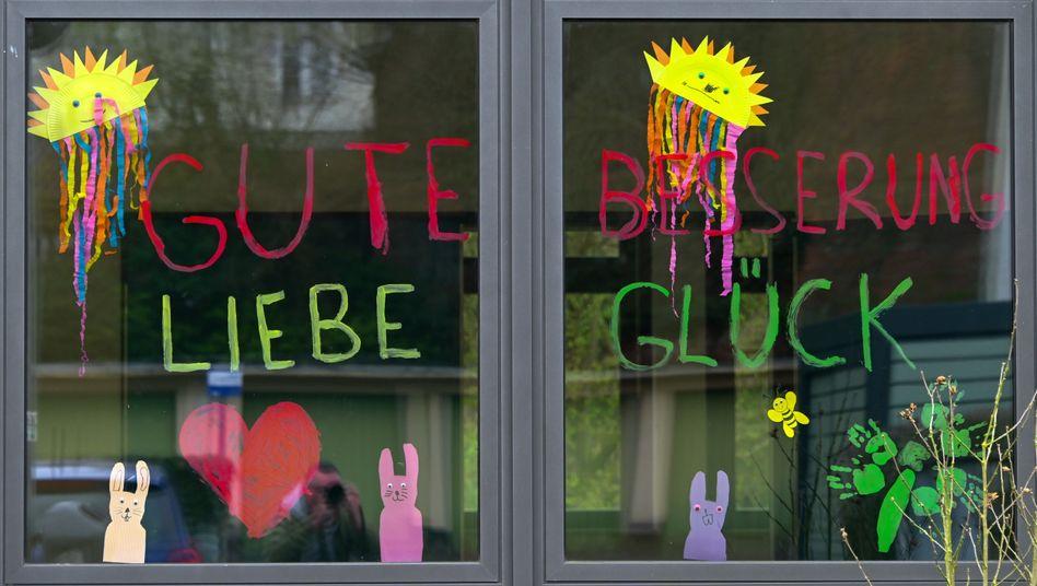 »Hierzu liegen der Bundesregierung keine Erkenntnisse vor«: Kitafenster in Kassel (Archivbild)